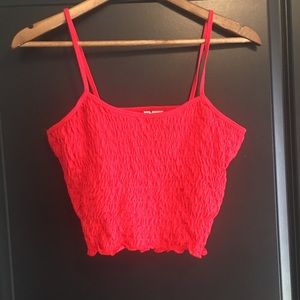 H&M Cropped Red Tank Top